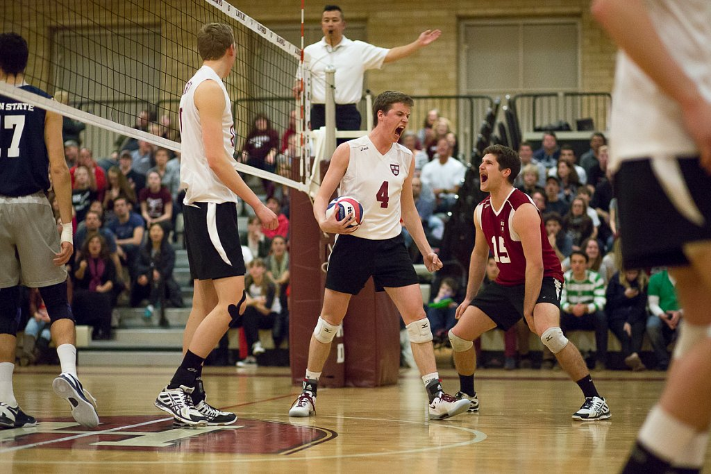 Harvard Men's Volleyball vs Penn State 2014